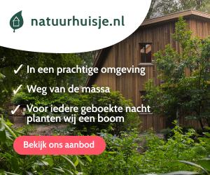 Natuurhuisjes in de natuur banner